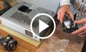 Replacing lamps in projectors Sony